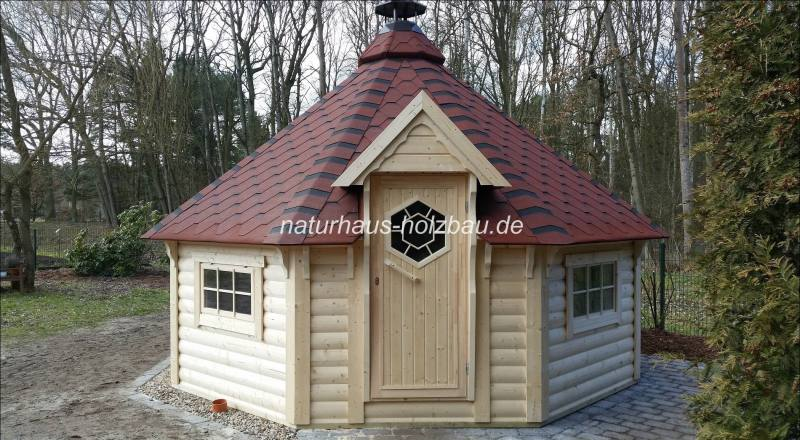 nordische 8 eck grill sauna kombi kota 16 5 naturhaus. Black Bedroom Furniture Sets. Home Design Ideas