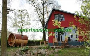 Fass-Sauna NH 300 Ø 2,27 m in Thermoholz
