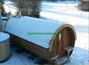 Fass-Sauna NH 480 Ø 2,27 m in Thermoholz